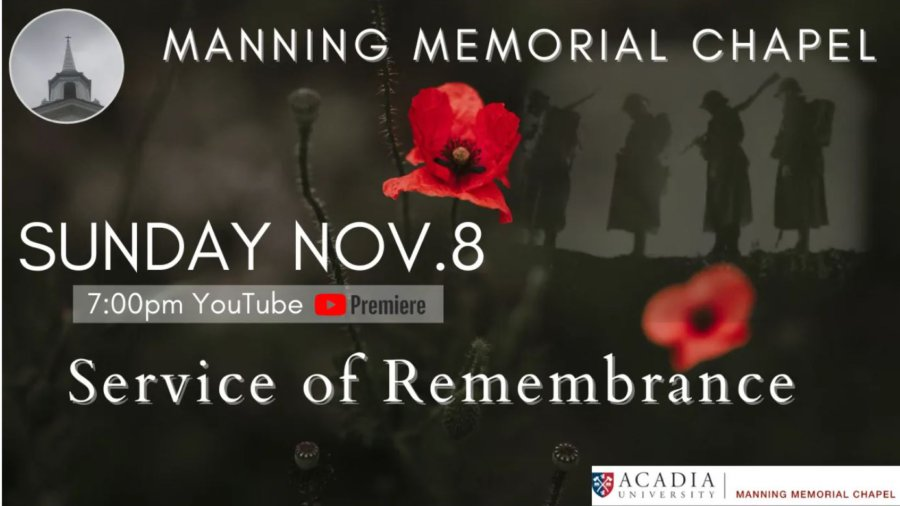 Manning Memorial Chapel Remembrance Sunday Service 2020